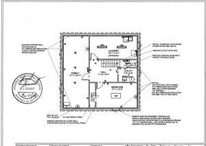 Engineering Drawing of Basement Renovation
