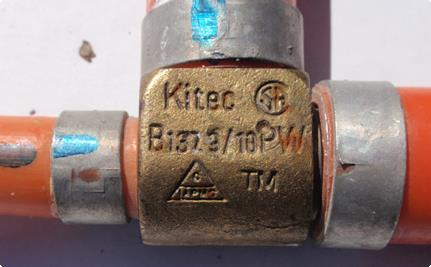 Example of a Kitec Fitting
