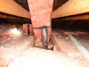 Exhaust Duct Vented in Attic